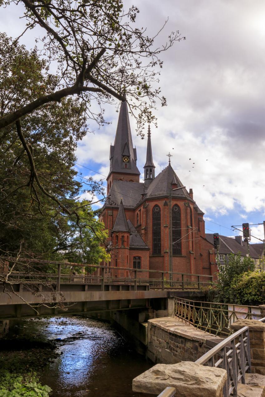 St. Michael Church in Velbert Langenberg backside