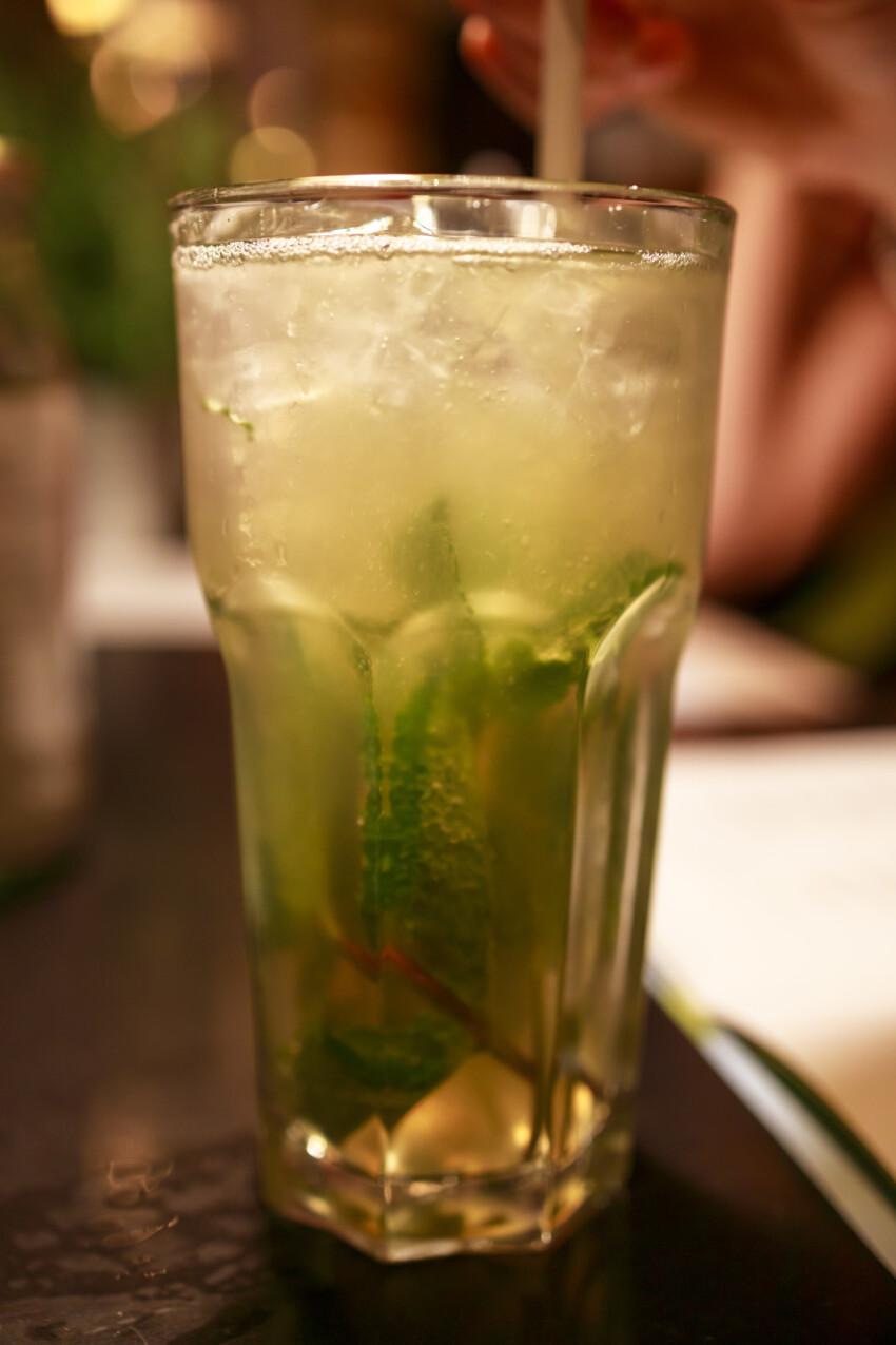Mojito cocktail in a pub