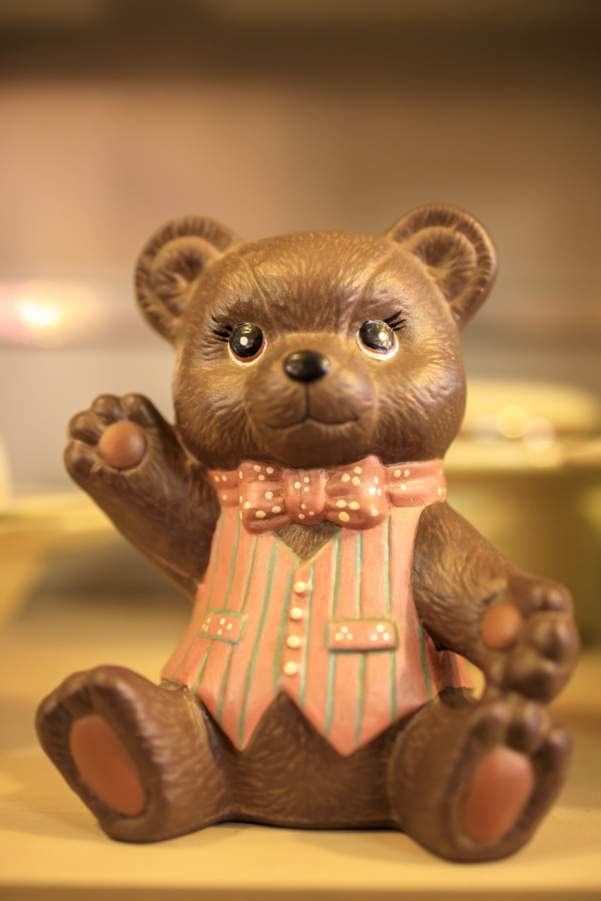waving teddy bear