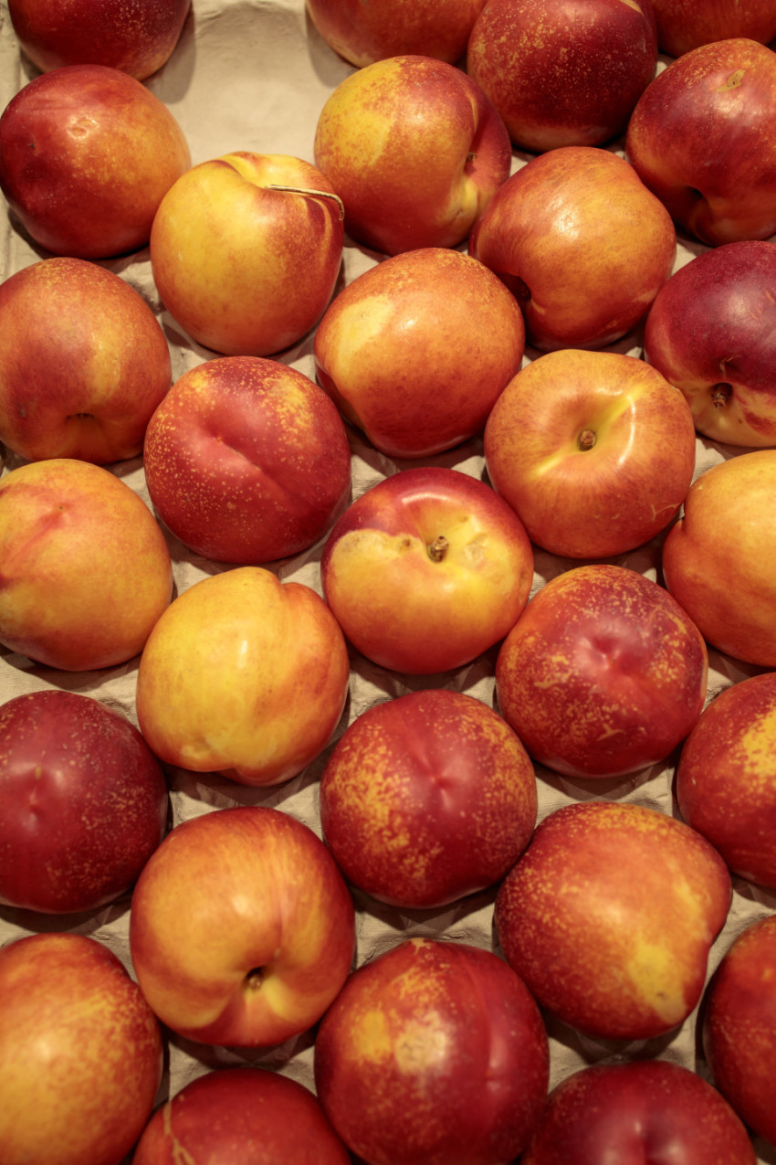 nectarines in a market