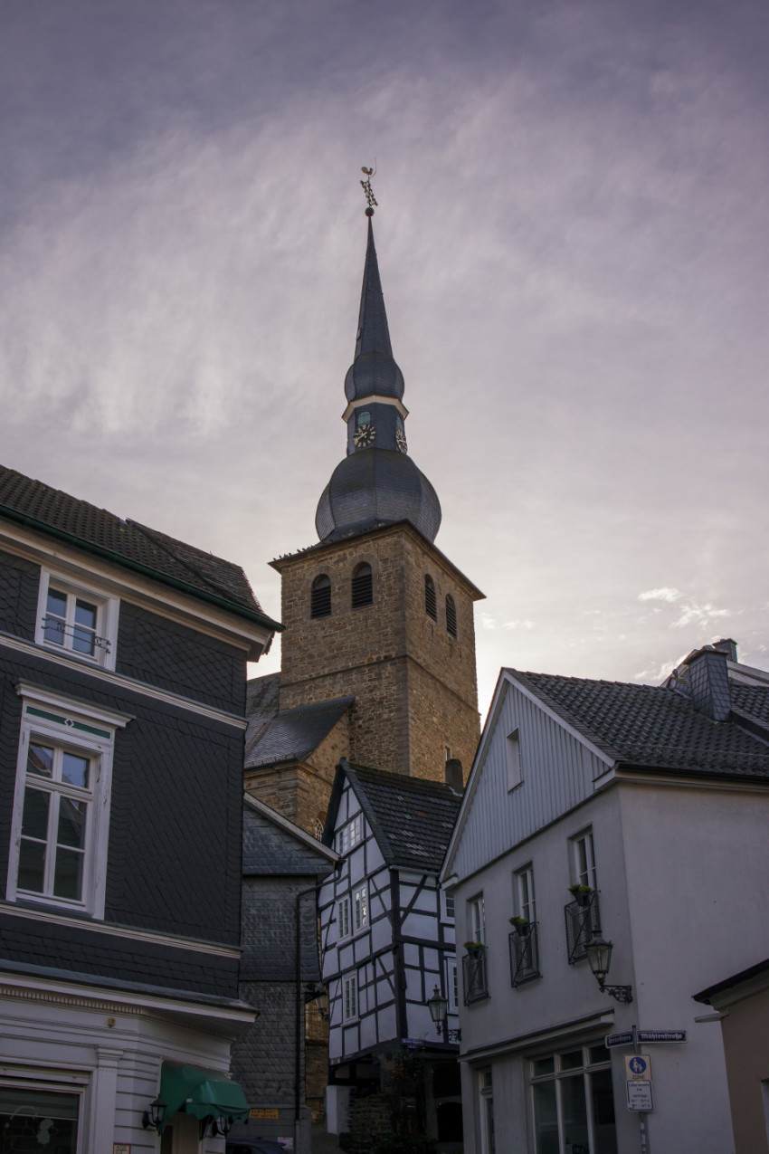 Old town of velbert langenberg in germany