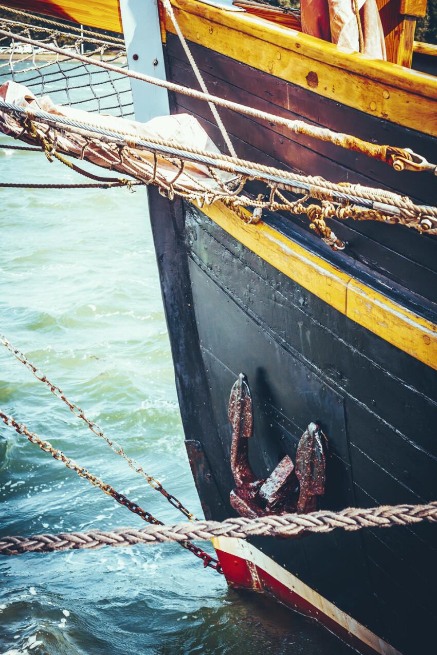 old sailing ship detail