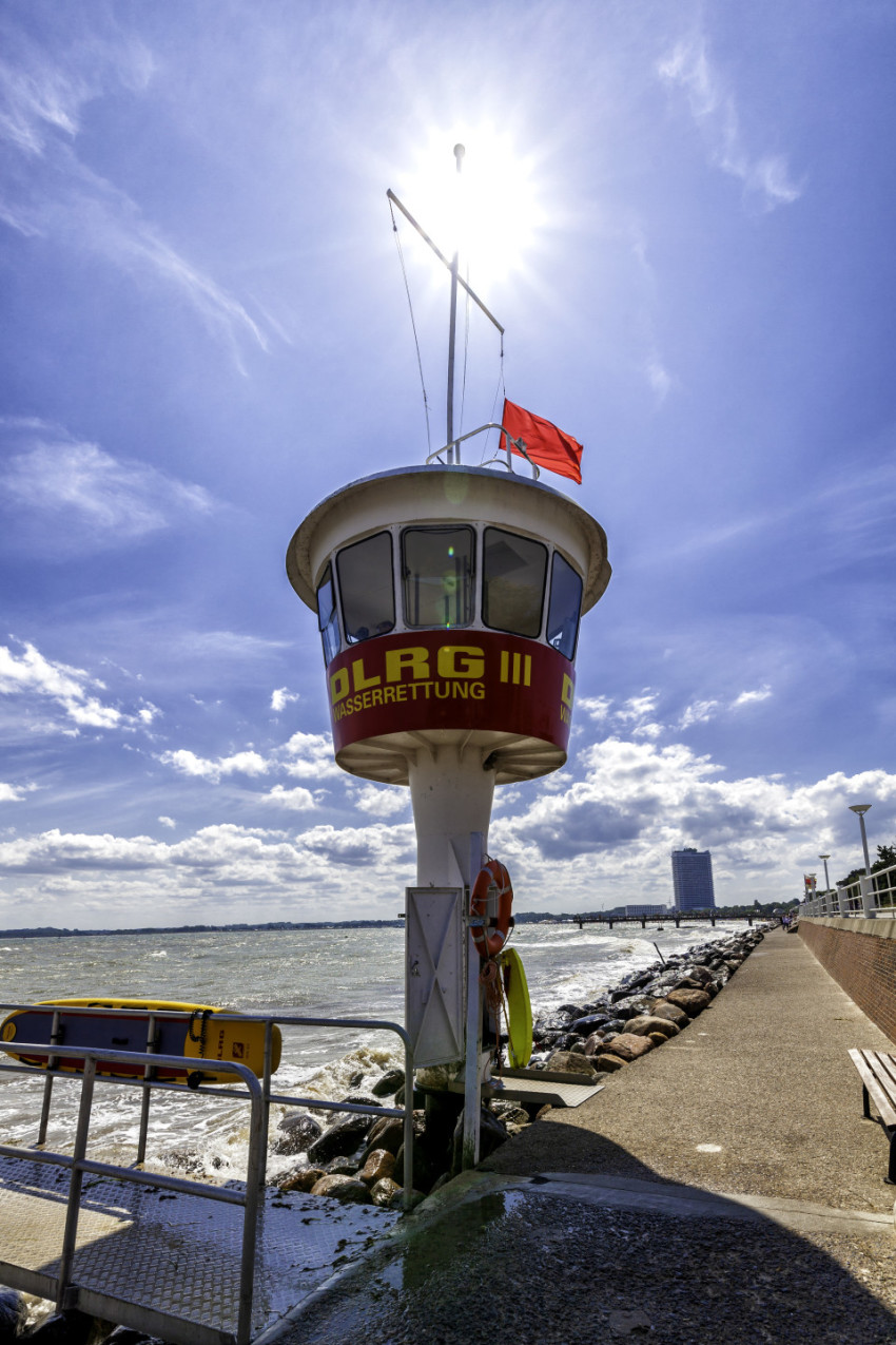tower of the german life saving association in travemunde lubeck