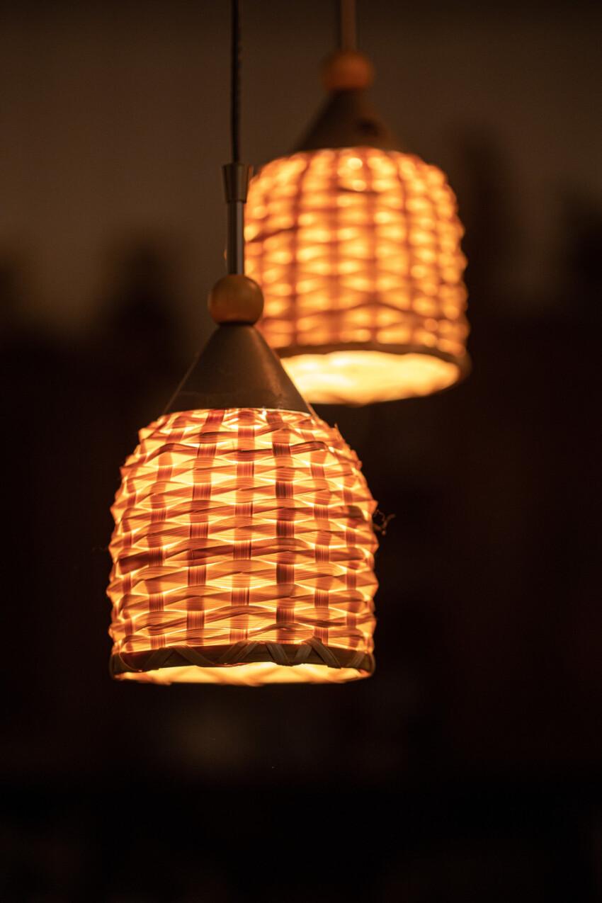 Luminous fabric lamps