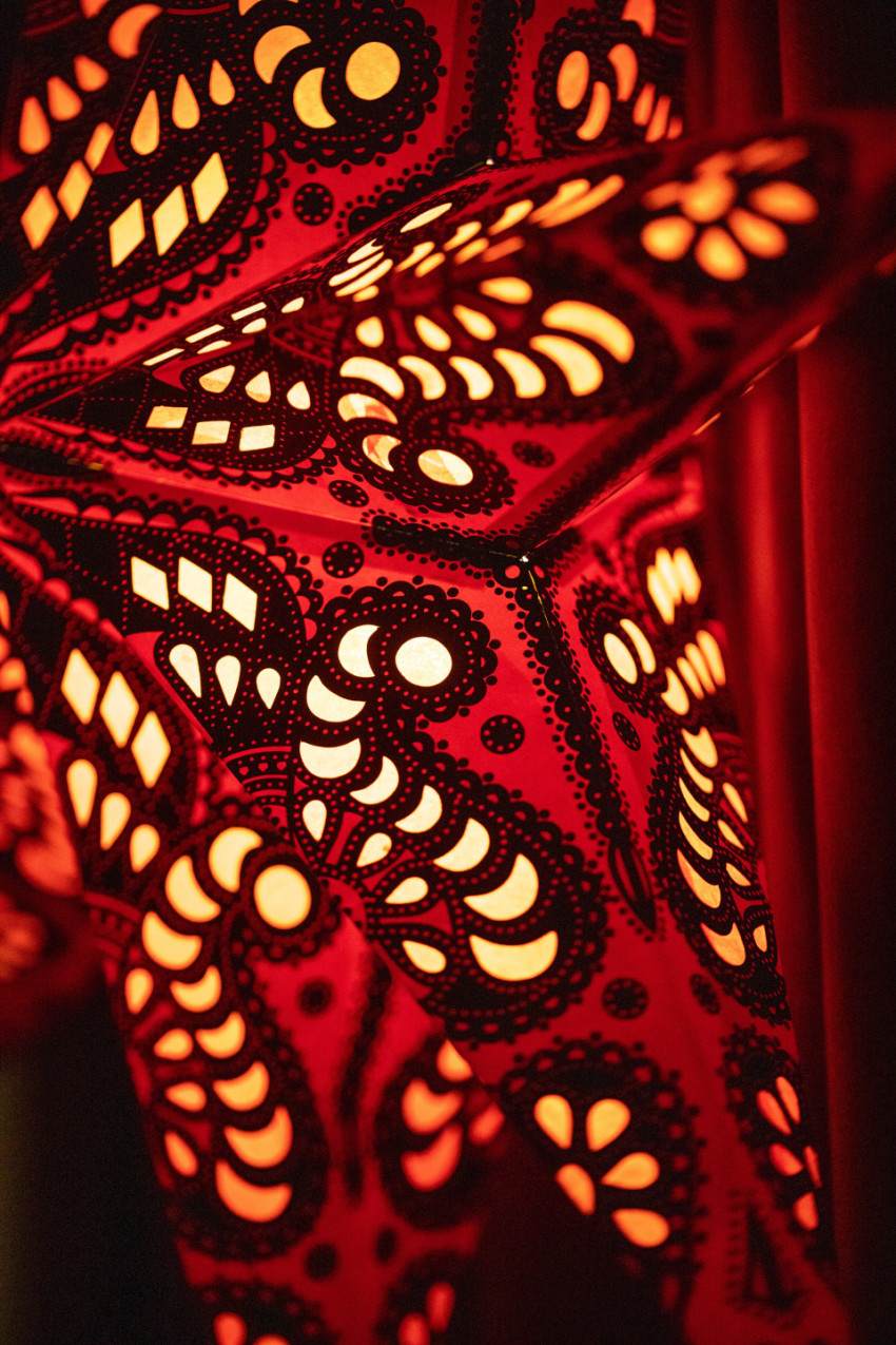 red glowing abstract background