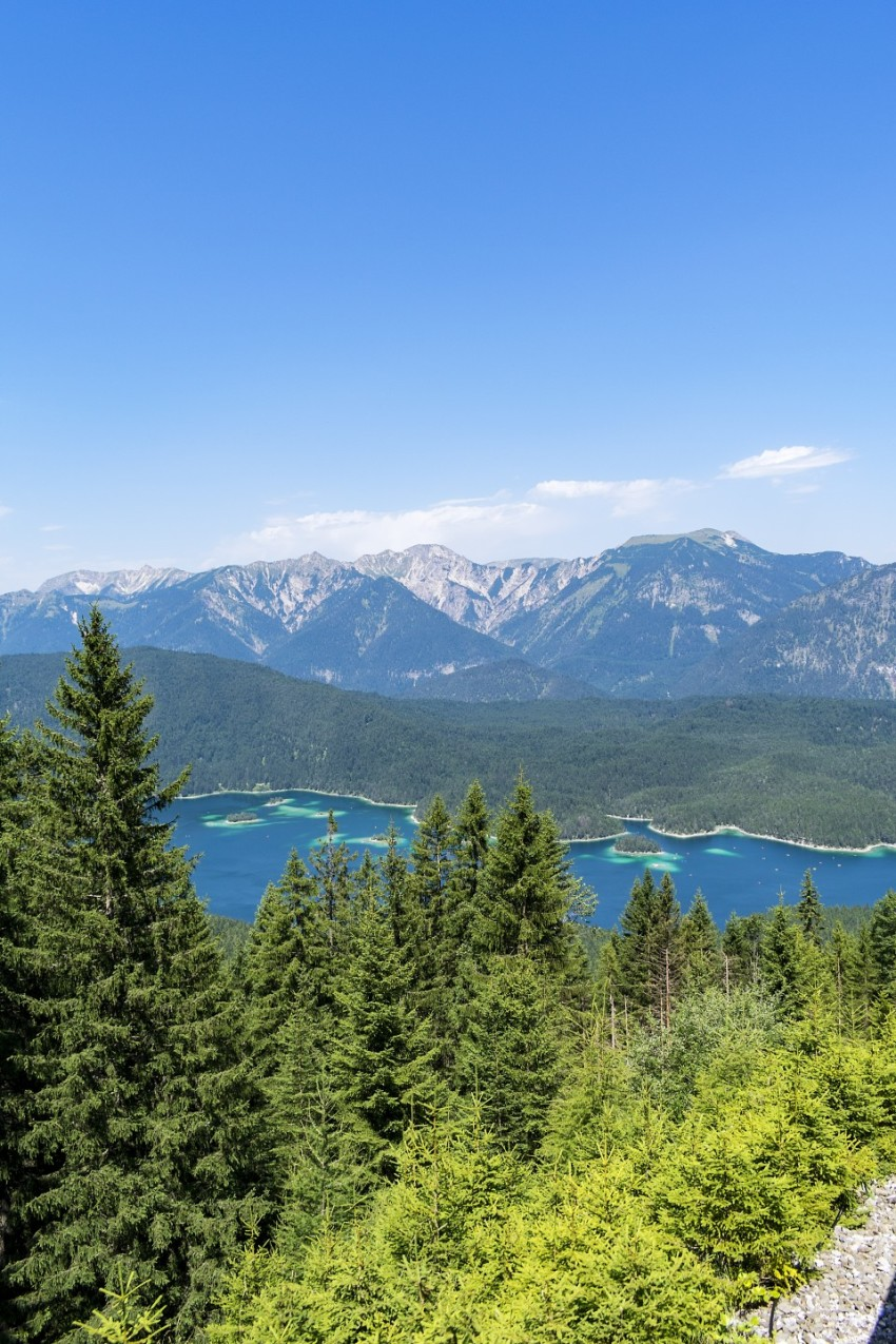Alpine landscape with the Eibsee lake