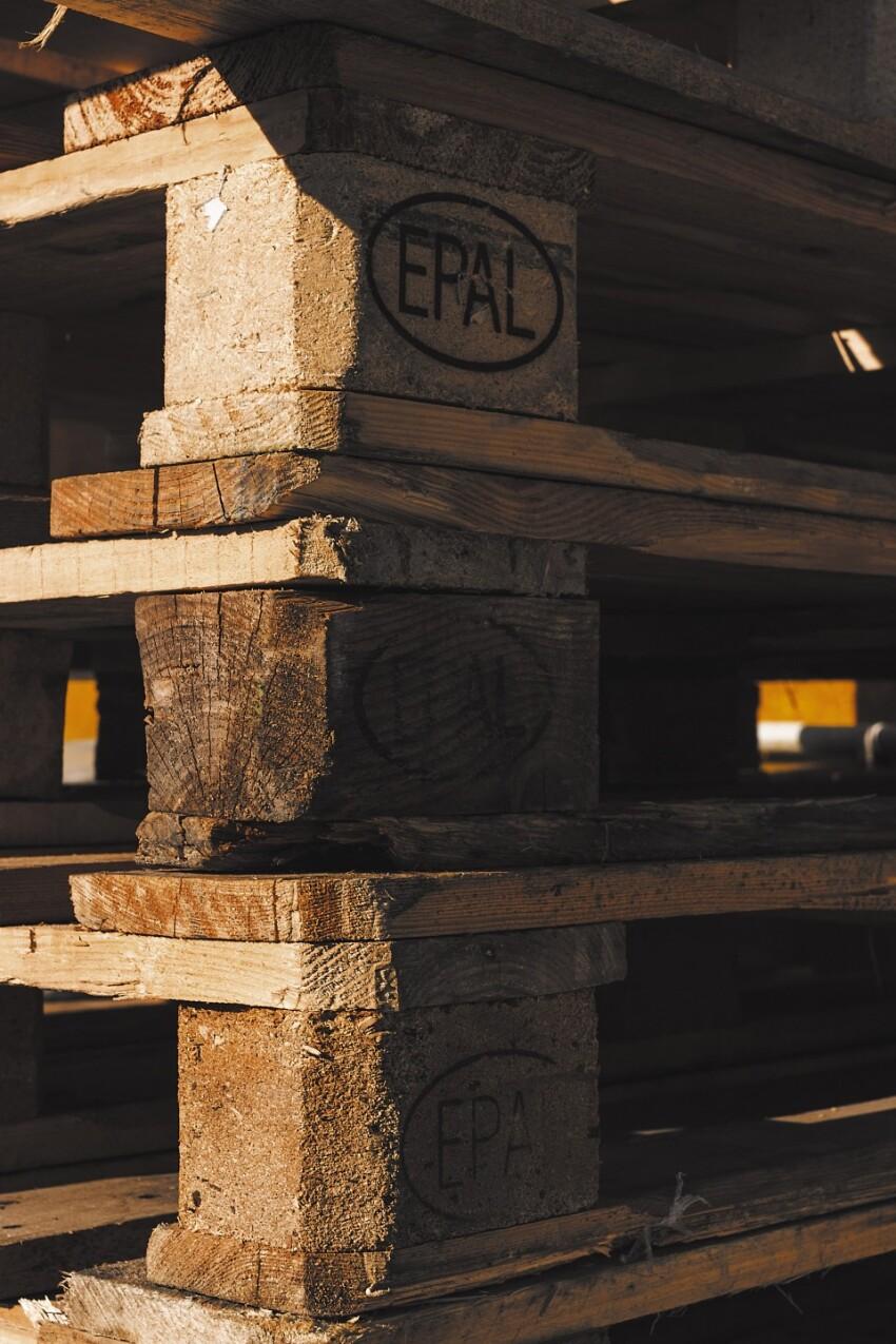 Old wooden pallets