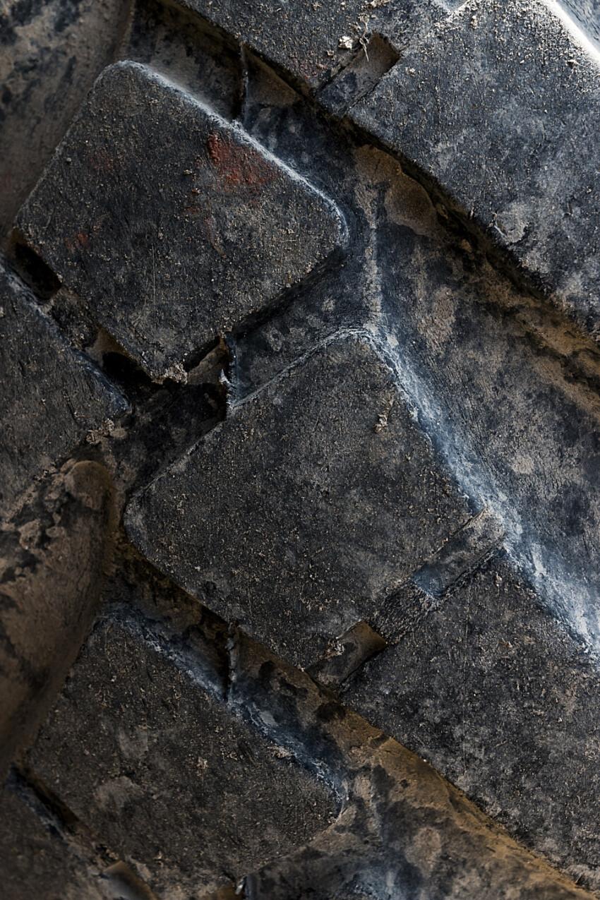 excavator tires texture
