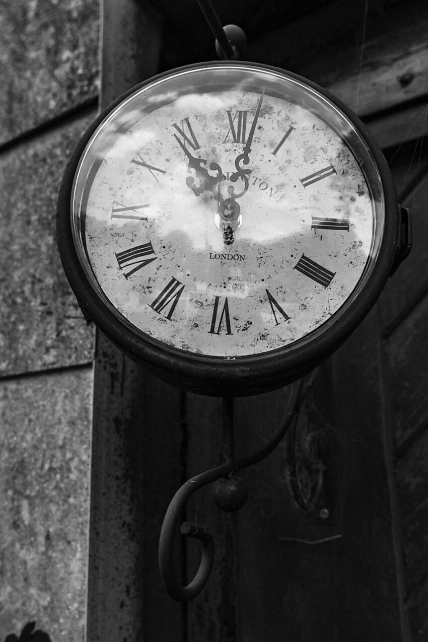 old wall clock roman numerals