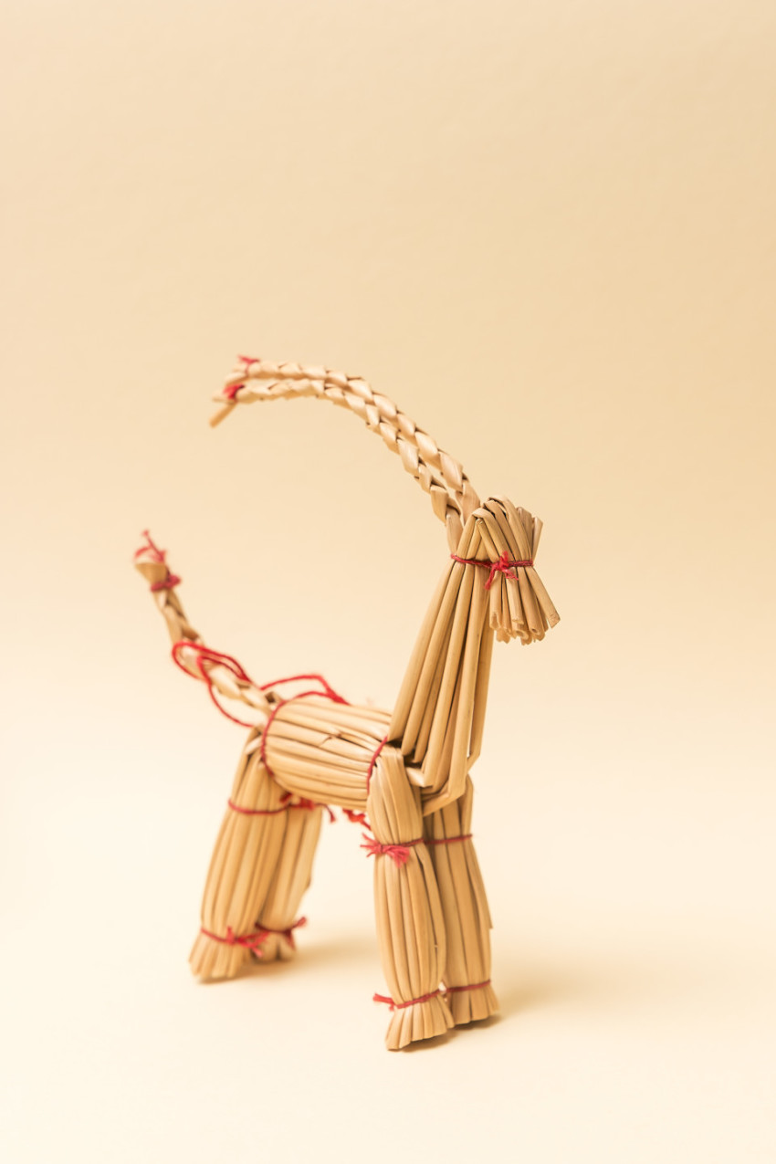 capricorn straw figure to the christmas time