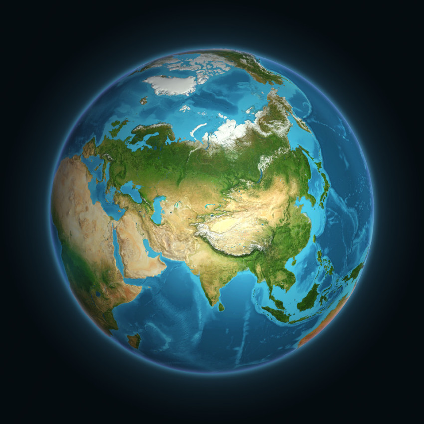 earth view on asia and europe - Eurasia