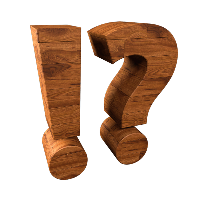 exclamation mark question mark wood transparent PNG
