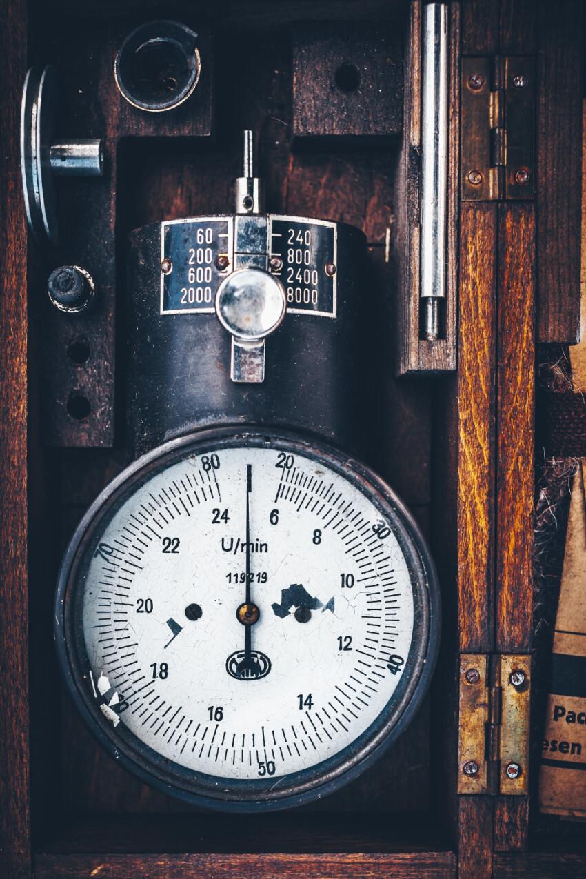 old vintage power measuring instrument