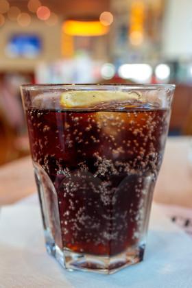 Stock Image: A glass of coke