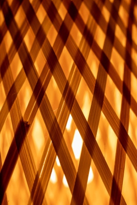 Stock Image: Abstract rattan lamps background