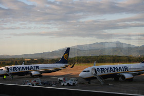 Stock Image: airport spain