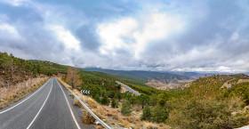 Stock Image: aldeire andalucia spain travel road landscape