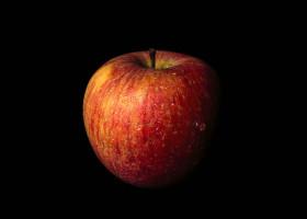 Stock Image: apple isolated on black background
