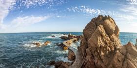 Stock Image: Balearic Sea Landscape in Canyet de Mar