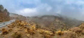 Stock Image: bayarcal andalucia spain mountains road landscape panorama
