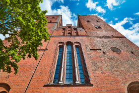Stock Image: Beautiful cathedral of the hanseatic city of Lübeck - Dom zu Lübeck