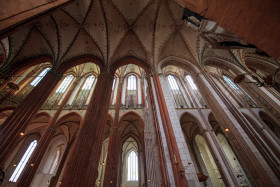 Stock Image: Beauty of the Marienkirche in Lübeck
