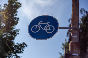 Stock Image: bicycle sign
