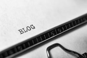 Stock Image: blog typewriter