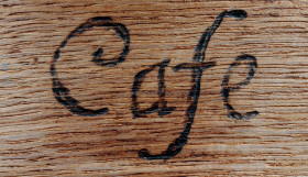 Stock Image: Cafe Sign