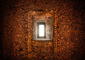 Stock Image: capella dos ossos portugal