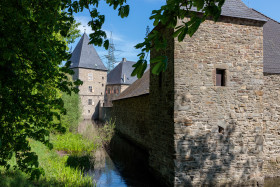 Stock Image: Castle with moat in Germany - Haus Kemnade