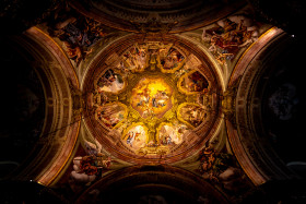 Stock Image: Ceiling painting in a church