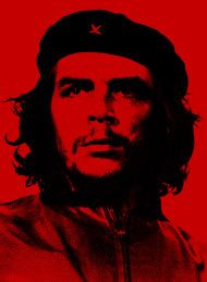 Stock Image: che guevara red background