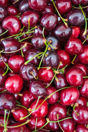 Stock Image: cherries background