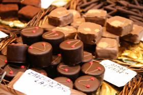 Stock Image: cherry nougat chocolates