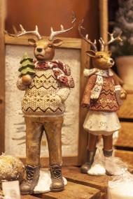 Stock Image: christmas decoration reindeers