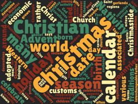 Stock Image: christmas tag cloud