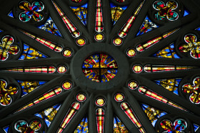 Stock Image: church stained glass window
