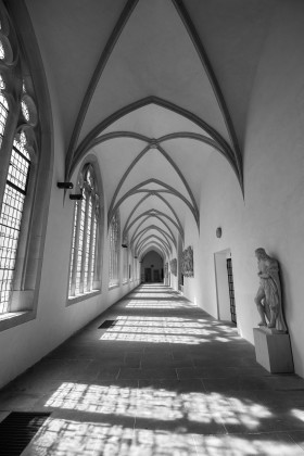Stock Image: Cloister of a church