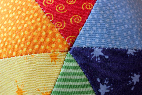 Stock Image: Colorful fabric background