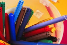 Stock Image: colorful felt tip pens
