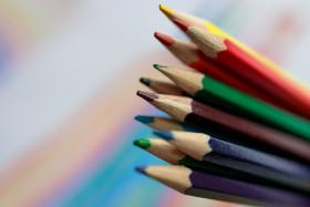 Stock Image: Coloured pencils
