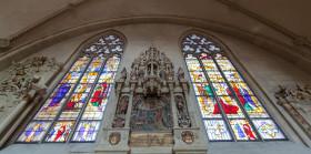 Stock Image: Colourful church windows