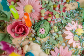 Stock Image: Colourful Sugar Decoration Pearls, Animals, Sprinkles and Flowers