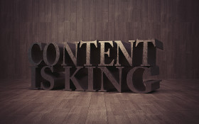 Stock Image: content is king