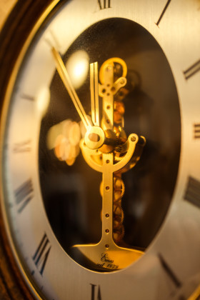 Stock Image: Dial of an old clock