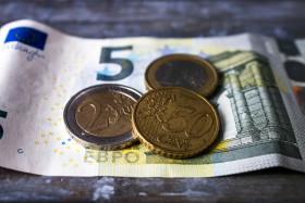 Stock Image: Eight euros fifty