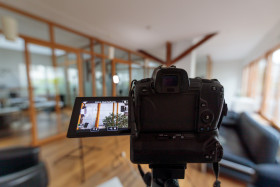 Stock Image: Filming with a full-frame camera