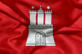 Stock Image: Flag of Hamburg