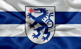 Stock Image: Flag of Ingolstadt, Bavaria